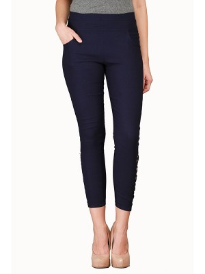 Magnogal Women Solid BLACK JEGGING BO-100 P