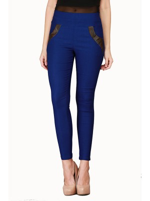 Magnogal Women Solid ROYAL BLUE JEGGING BO-100 T