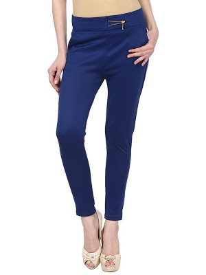 Magnogal Women Solid ROYAL BLUE JEGGING BO-100 X