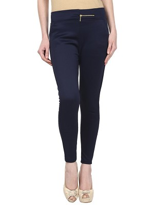 Magnogal Women Solid BLUE JEGGING BO-100 Y