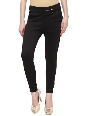 Magnogal Women Solid Z BLACK JEGGING BO-100 Z