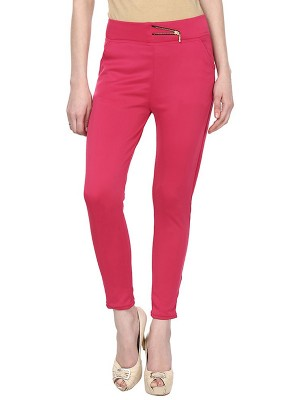 Magnogal Women Solid RED JEGGING BO-101 A