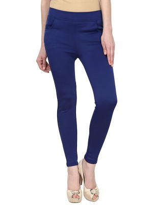 Magnogal Women Solid ROYAL BLUE JEGGING BO-101 D