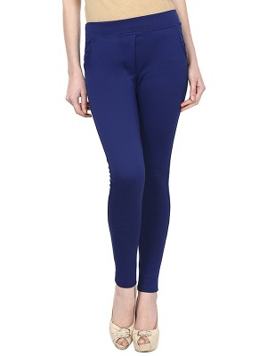 Magnogal Women Solid ROYAL BLUE JEGGING BO-101 J