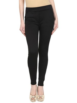 Magnogal Women Solid BLACK JEGGING BO-101 K