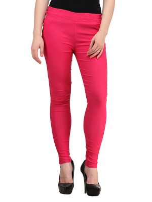 Magnogal Women Solid MAGENTA JEGGING BO-101 R