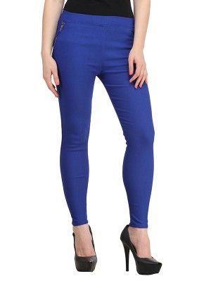 Magnogal Women Solid BLUE JEGGING BO-101 V