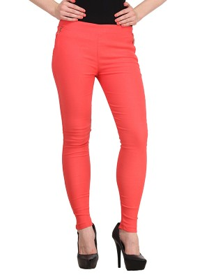Magnogal Women Solid RED JEGGING BO-101 X