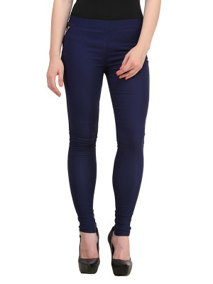 Magnogal Women Solid NAVY JEGGING BO-101 Z