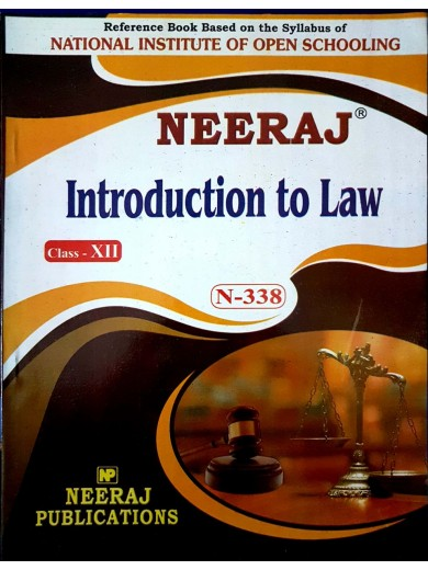 NIOS Guide for Introduction To Law N-338 class 12th English Medium