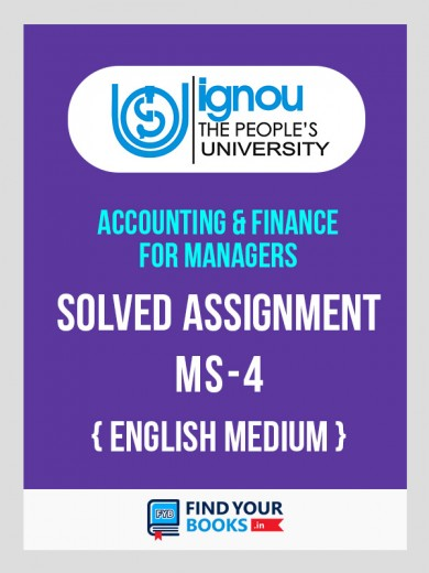 MS4 - IGNOU Solved Assignment For MS4 - 2018