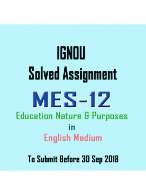 MES-012 English IGNOU Solved Assignment 2018