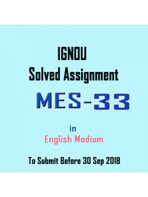 MES-033 English IGNOU Solved Assignment 2018