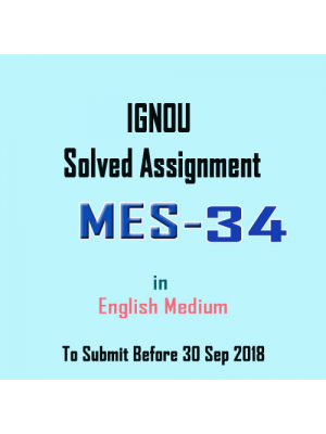 MES-034 English IGNOU Solved Assignment 2018