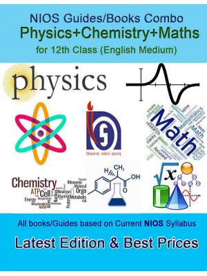 NIOS Maths, Physics & Chemistry Guides Combo in English Medium- NIOS