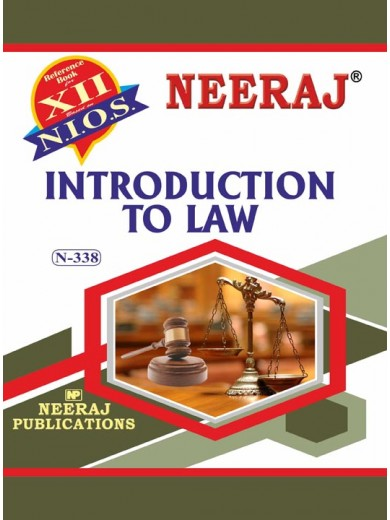 NIOS 338 - Introduction To Law - Guide Book for Class 12th in English Medium