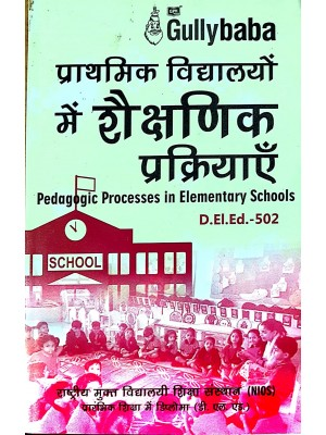 D.El.Ed.502 Pedagogic Processes in Elementary Schools Hindi Medium