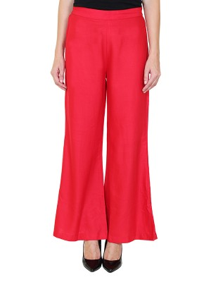 Magnogal Women Red Palazzo PL-78 D