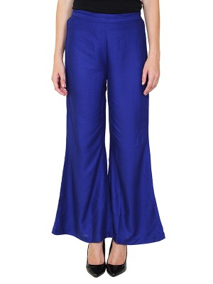 Magnogal Women Royal Blue Palazzo PL-78 E
