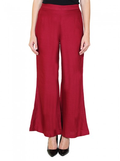 Magnogal Women Maroon Palazzo PL-78 H