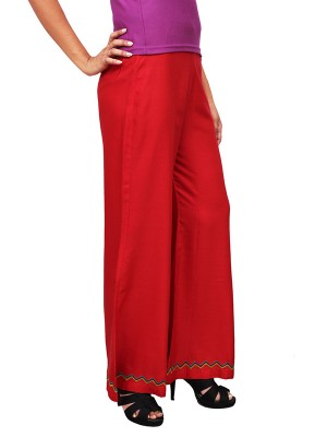 Magnogal Women Red Palazzo PL-80 C