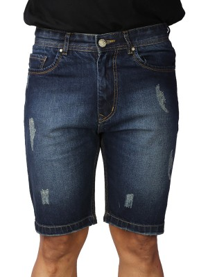 ReFocus  Sand Blue Denim Shorts for Men