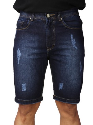 ReFocus Dark  Blue Denim Shorts for Men