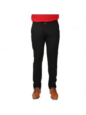 ReFocus Black Cotton Pant for Men