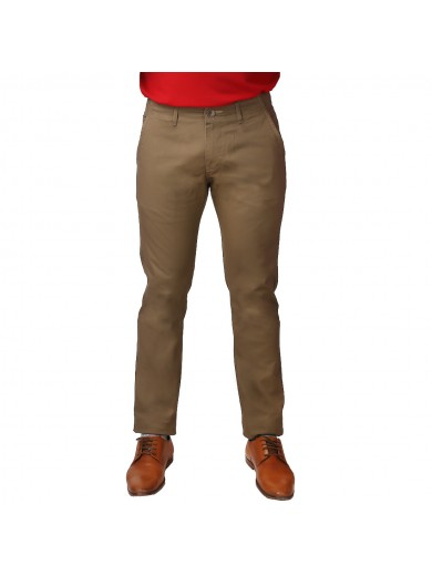ReFocus Brown Cotton Pant for Men