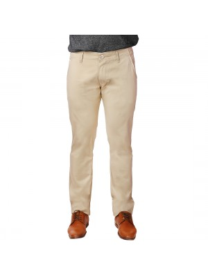 ReFocus Beige Cotton Pant for Men