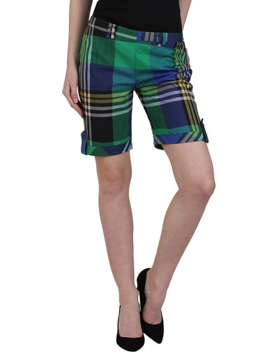 Magnogal Women Checkered short SH-17 C