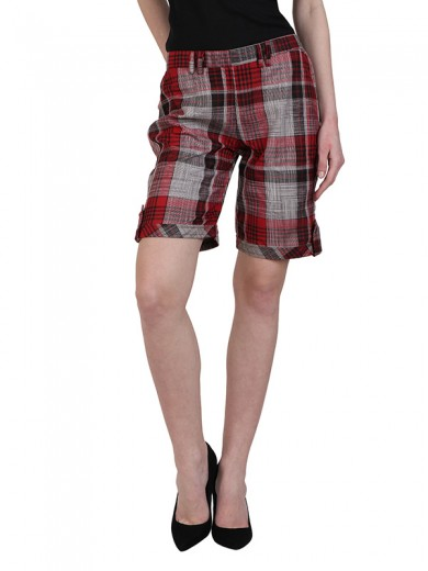 Magnogal Women Checkered short SH-17 E