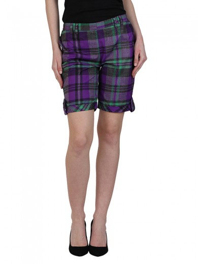 Magnogal Women Checkered short SH-17 H