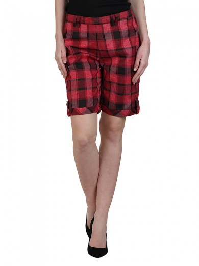 Magnogal Women Checkered short SH-17 I