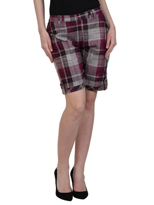 Magnogal Women Checkered short SH-17 J
