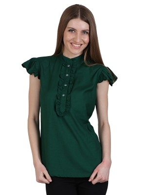 Magnogal Casual CAP SLEEVES Solid TEAL GREEN Top- 39 E