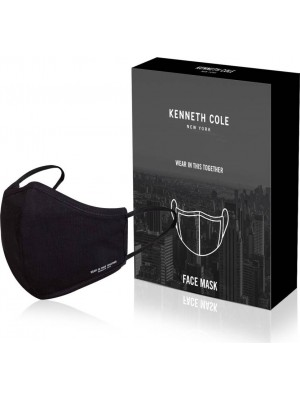 Kenneth Cole 100% Cotton Anti Pollution Anti Heat Anti Dust Anti Bacterial Respirator Mask  (Black, Free Size, Pack of 3)