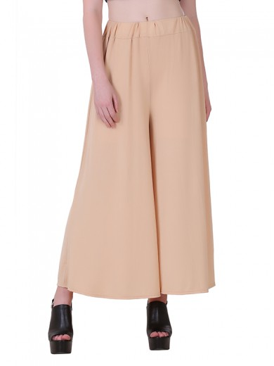 Buy Beige Stretchable Palazzo for Women Online India, Best Prices