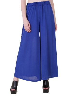 Women One Blue  Premium Stretchable Palazzo