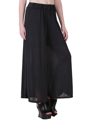 Women One Black Premium Stretchable Palazzo