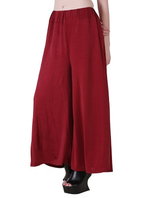 Women One Maroon  Premium Stretchable Palazzo