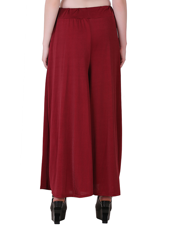 Buy Maroon Stretchable Palazzo For Women Online India
