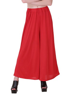 Women One Red Premium Stretchable Palazzo