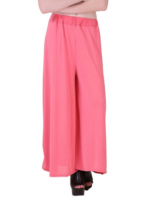 Women One Pink  Premium Stretchable Palazzo