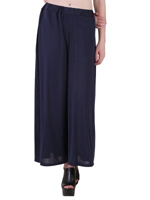 Women One Navy Blue  Premium Stretchable Palazzo