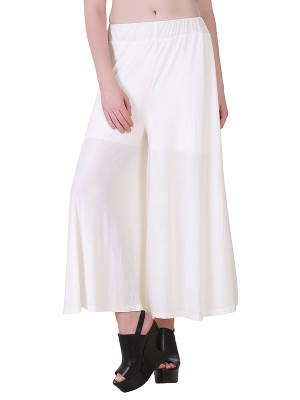 Women One Offwhite Premium Stretchable Palazzo