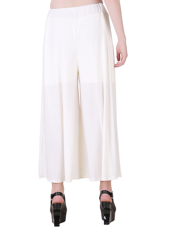 Buy Offwhite Stretchable Palazzo For Women Online India