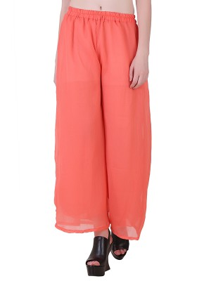 Women One Peach  Premium Stretchable Palazzo