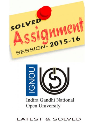 IBO-1 IGNOU Solved Assignments 2015-16 - Hindi