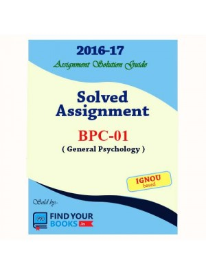 IGNOU BPC-1 Solved Assignment 2017
